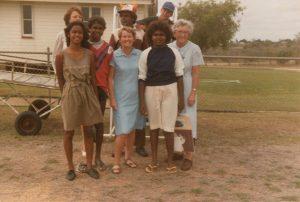 Catholic nun with Aboriginal and Torres Strait islander people