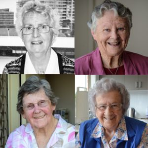 Faces of four women