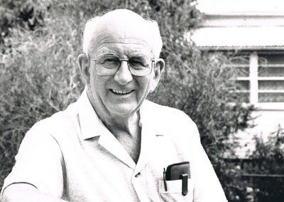 portrait of elderly man in black and white