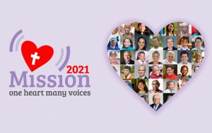 One Heart Many Voices conference logo